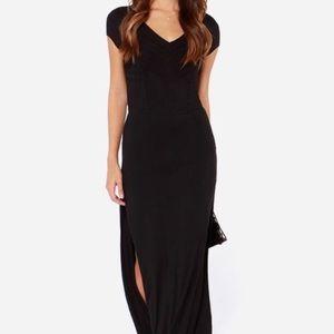 RVCA maxi double slit v-neck dress